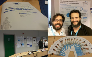 Collage of Smart Bioelectronic and Wearable Systems Workshop photos
